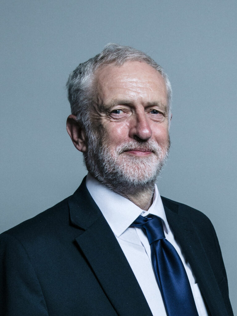 A portrait of Jeremy Corbyn, former leader of the Labour Party.